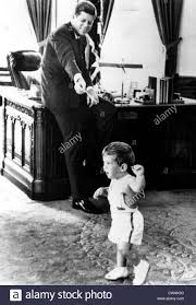 John F Kennedy Rocking Chair John F Kennedy In Oval Office With Children Caroline Kennedy And