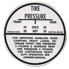 1964 65 tire pressure decal chevelle 3870199 opgi com