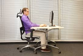 Sitting On A Medicine Ball At Desk How To Support Your Back Every Day