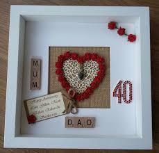 40th wedding anniversary gifts personalised 40th ruby wedding anniversary geldgeschenke