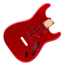 apple red apple red stratocaster electric guitar body 2 piece american alder