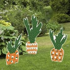 outdoor easter decorations creative easter outdoor decoration ideas easter carrots and bunny