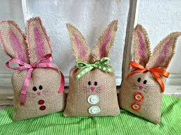 bunny easter basket easter bunny burlap easter bunny easter decoration easter