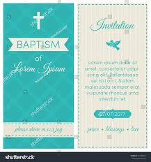 baptism template baptism invitation template blue cream colors stock vector
