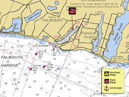 Map Of Massachusetts Coast by Falmouth Harbor New England Boating U0026 Fishing