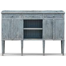 peitro french country weathered antique blue wood sideboard buffet