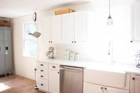 Benjamin Moore Simply White Kitchen Cabinets Home Farmhouse Kitchen Makeover Lauren Mcbride