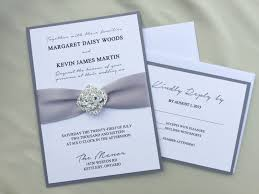 regency wedding invitations shabby chic glam wedding invitation grey ribbon
