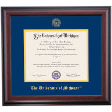 of michigan diploma frame michigan school color traditional for 2000 and earlier diploma