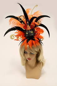Vintage Pin Up Halloween Costumes by Halloween Hat Halloween Fascinator Vintage Halloween Pin Up