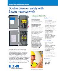 double door line isolation switch eaton corporation
