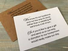 Wedding Gift Money Poem Wedding Invitations Ebay