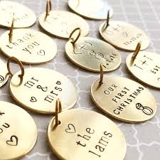 diy ornaments just a personalized brass tag
