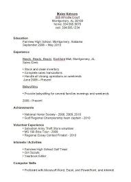 high school resumes trend exles of resumes for high school students 82 for resume