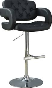 Adjustable Bar Stools Furniture Coaster Fine Furniture Black Leather Adjustable Bar