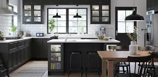 does ikea make solid wood kitchen cabinets black kitchen cabinets lerhyttan series ikea