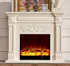 Electric Fireplace With Mantel Wood Fireplace Mantel W130cm With Electric Fireplace Insert Warm