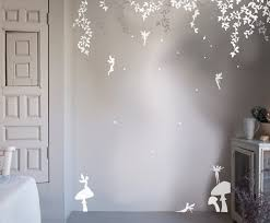 Wood Wall Stickers by Bambizi White Wall Stickers Fairy Design Flower Fairy