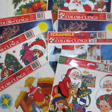 Christmas Window Cling Decorations by Plastic Stickers Decals Window Decorations Ebay