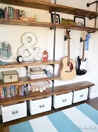 Wood Storage Shelves Plans by Best 25 Industrial Shelves Ideas On Pinterest Pipe Shelves