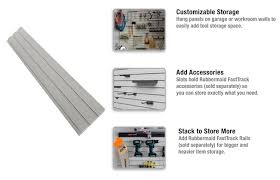 Furniture Rubbermaid Garage Wall Storage Rubbermaid Fasttrack 48 In Slat Wall Panel 1960259 The Home Depot