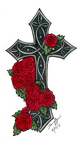 100 cross with flowers tattoo best 25 wooden cross tattoos