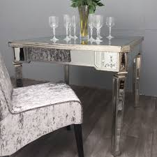 Mirrored Dining Room Furniture Mirrored Dining Table Elegant Audrey Mirrored Dining Table Gold