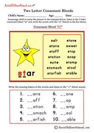 consonant clusters camping free worksheets worksheets and