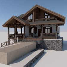 chalet designs european chalet houses 4 in 1 collection 3d model 3ds fbx c4d