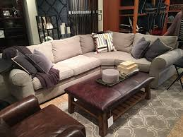 Sofa And Sectional Pottery Barn Pearce Sectional In Silver Taupe Sofa And