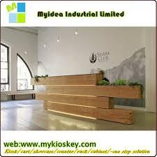 Industrial Style Reception Desk Cheap Small Nail Salon Reception Desk Counter White Curved