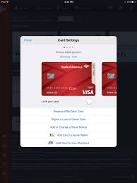 Bank Of America Design Cards Bank Of America Mobile Banking For Ipad On The App Store