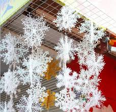 snow decoration 2 sets christmas party decorations supplies white snow snowflakes