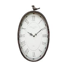 home decor wall clocks shop stratton home decor antique bird analog oval indoor wall clock