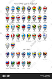 Google Maps South America by Map Marker Set With State Flags Of Sovereign Countries Of North