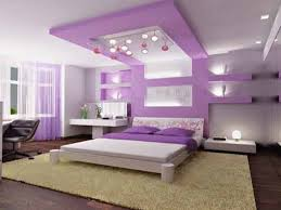 Brown And Purple Bedroom Ideas by White Purple Bedroom Wall And Shelves Combined By White Bed On