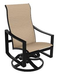 Swivel Patio Dining Chairs Tropitone Kenzo Swivel Patio Dining Chair Reviews Wayfair