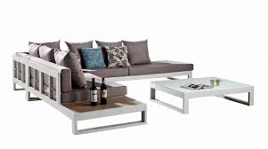 Side Table For Sectional Sofa Modern Outdoor Sectional Sofa Set For 5 With Built In Side Table