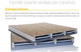 pannelli per isolamento termico soffitto pannello isolante con osb e polistirene per tetto ventilato coperture