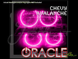 oracle 02 06 chevrolet avalanche led colorshift halo rings