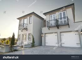 Modern House Garage Outside Shot Showing Garage Portion Modern Stock Photo 88980706