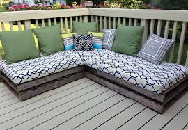 Blue Outdoor Cushions White Painted Pallet Outdoor Couch With Tall Back And Light Blue