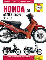 haynes manual 4926 honda anf125 innova scooter 03 11 amazon co