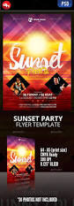 sunset party party poster event flyers and font logo