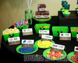 minecraft goody bags minecraft birthday party nothing but country