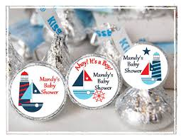 nautical baby shower favors personalized nautical hershey kisses labels baby shower favors