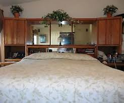 King Size Wood Headboard King Size Solid Oak Headboard W Towers U0026 Matching Armoire Ebay