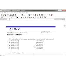 resume templates free mac word processor cv template microsoft works fungram co