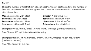 Feet In A Meter Poetry U0027s Structure And Form Ppt Video Online Download