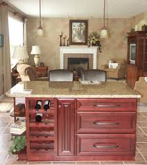 Handyman Kitchen Cabinets Kitchen Fascinating Dark And Red Laminate Cabinet Cover An Island